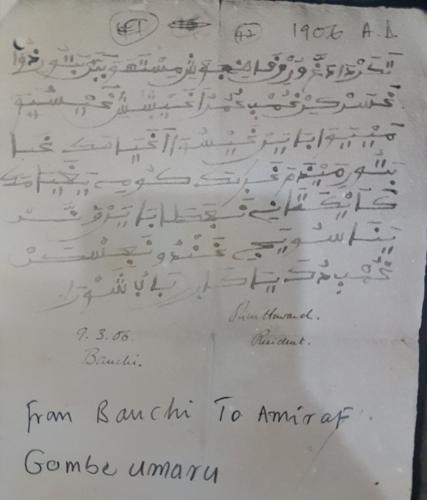 An example of Ajami correspondence